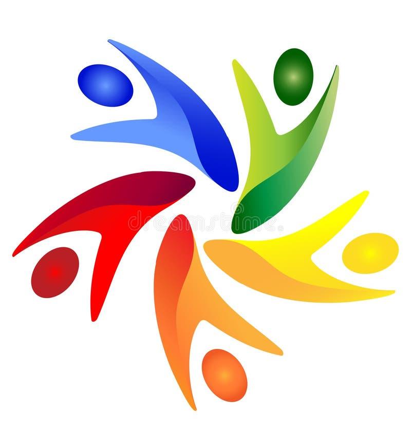 Logo della gente di Swoosh illustrazione di stock