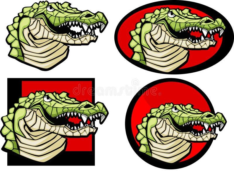 Marchio della mascotte del coccodrillo royalty illustrazione gratis
