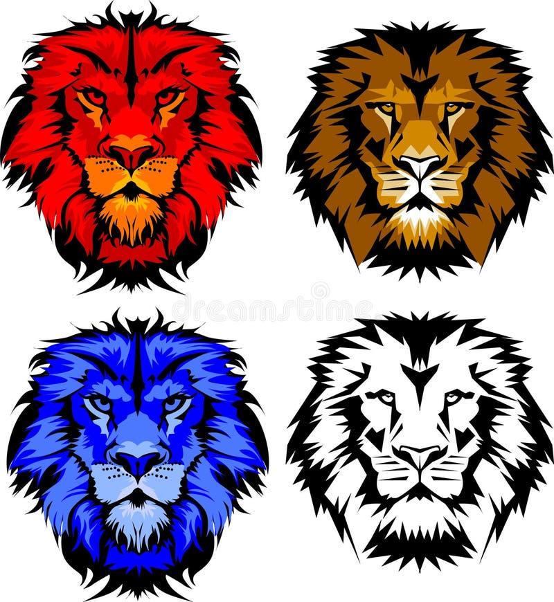 Marchio della mascotte del leone illustrazione vettoriale
