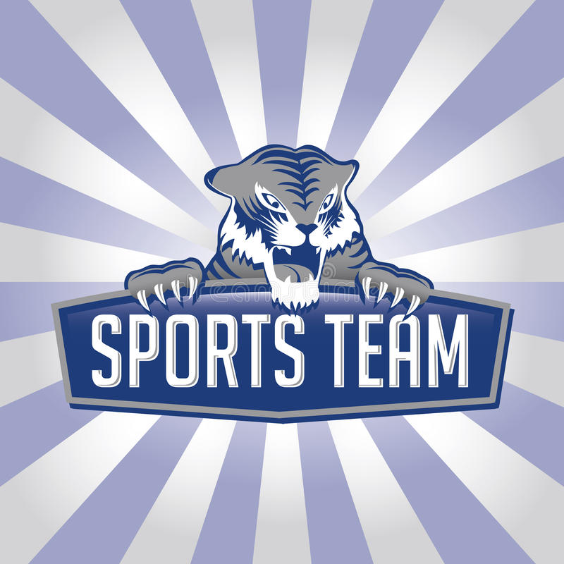 Marchio della squadra di sport della tigre illustrazione vettoriale