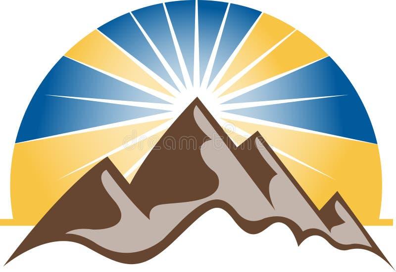 Marchio delle montagne illustrazione di stock
