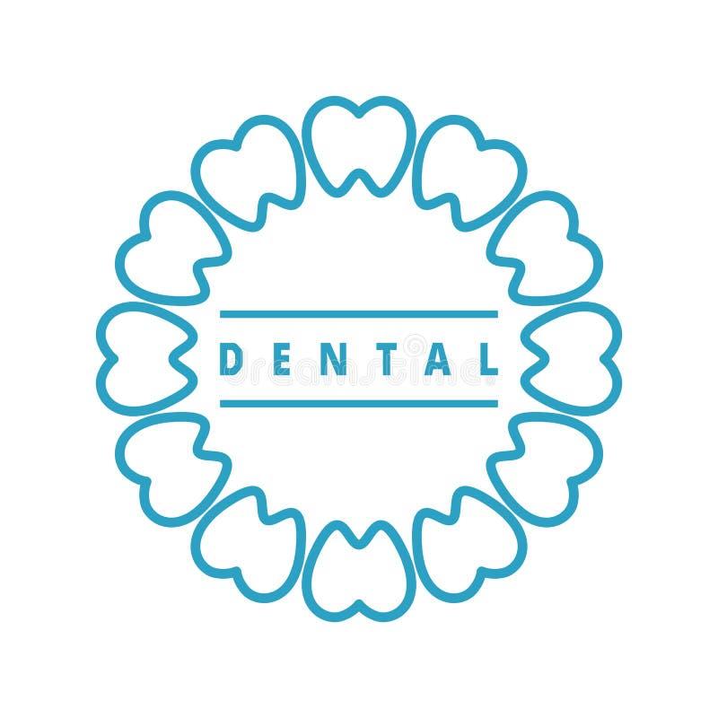 Marchio dentale illustrazione di stock