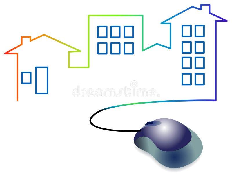 Marchio di architettura illustrazione vettoriale