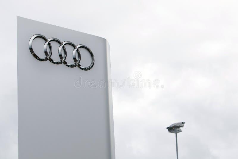 Marchio di Audi fotografia stock libera da diritti