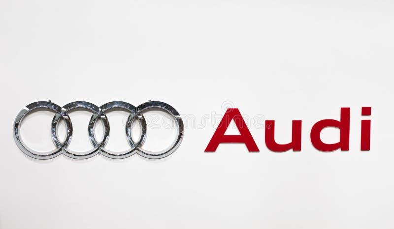 Marchio di Audi fotografie stock libere da diritti