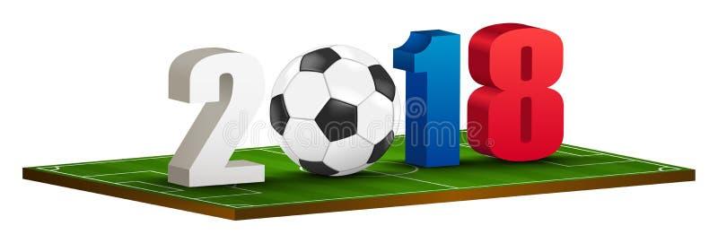marchio 2018 di calcio illustrazione vettoriale