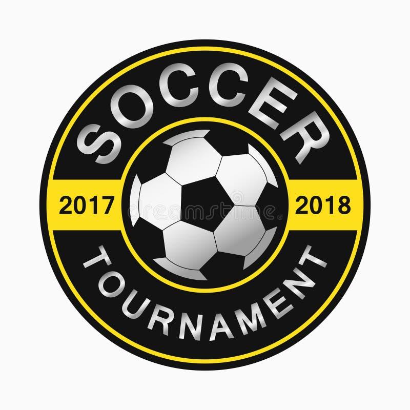 Marchio di calcio Progettazione dell'emblema rotondo di sport Vettore illustrazione vettoriale