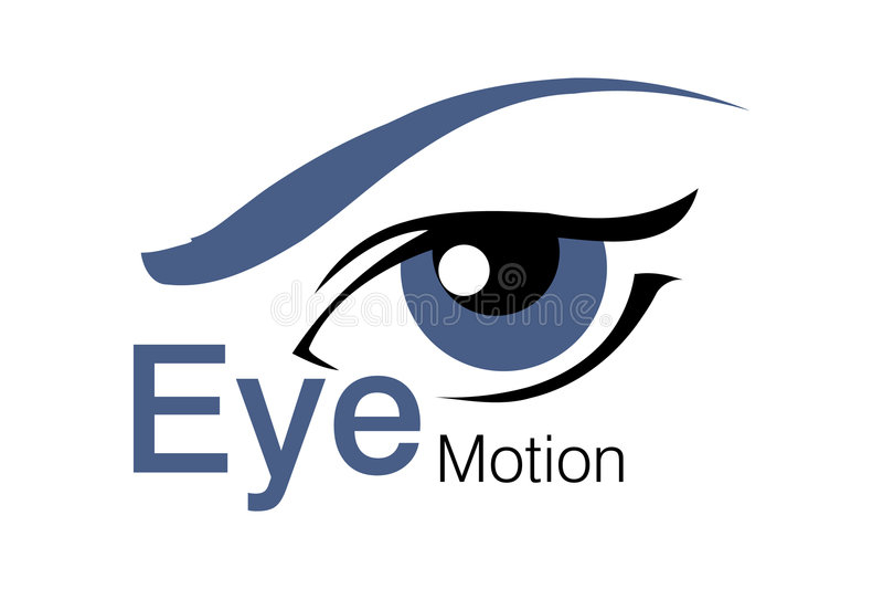Marchio di movimento dell'occhio illustrazione vettoriale