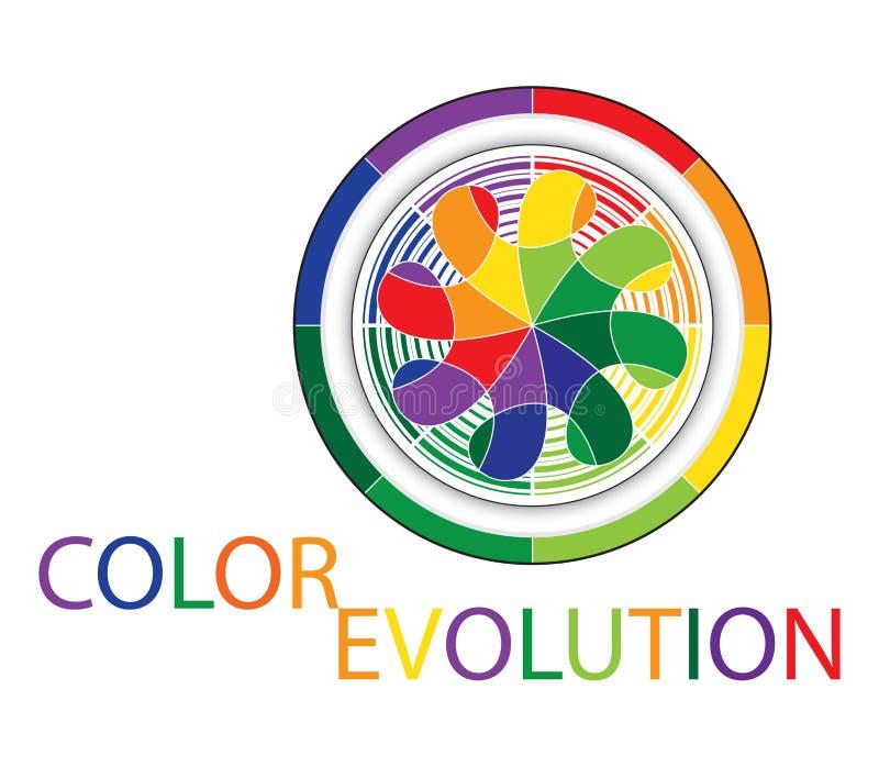 Marchio di sviluppo di colore illustrazione vettoriale