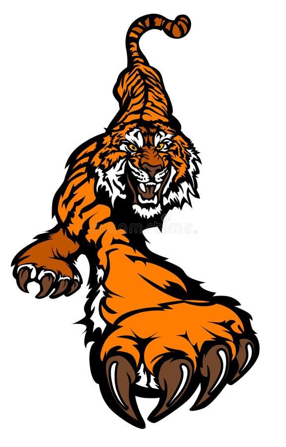 Marchio di vettore della mascotte della tigre royalty illustrazione gratis