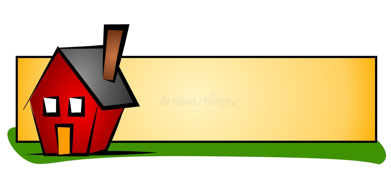 Marchio di Web della Camera del bene immobile illustrazione vettoriale