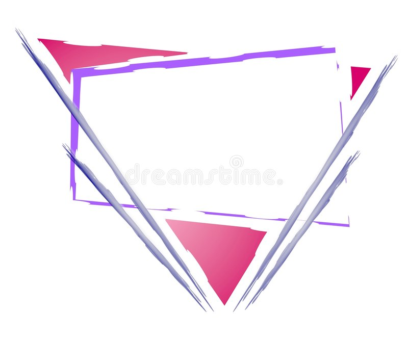 Marchio di Web page del triangolo di Artsy royalty illustrazione gratis