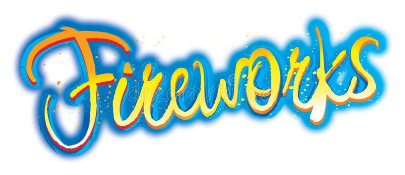 Marchio grafico del testo dei fuochi d'artificio royalty illustrazione gratis