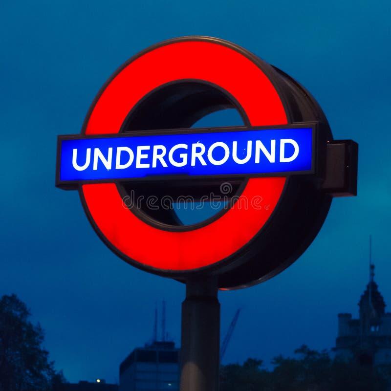 Marchio sotterraneo a Londra immagine stock libera da diritti