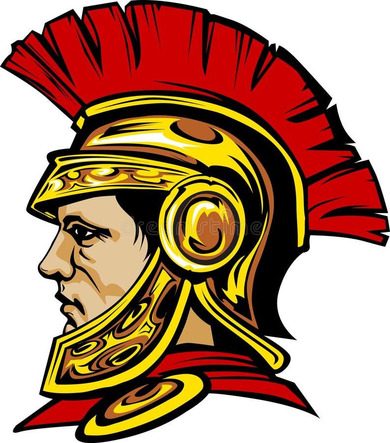 Marchio spartano/Trojan della mascotte illustrazione di stock