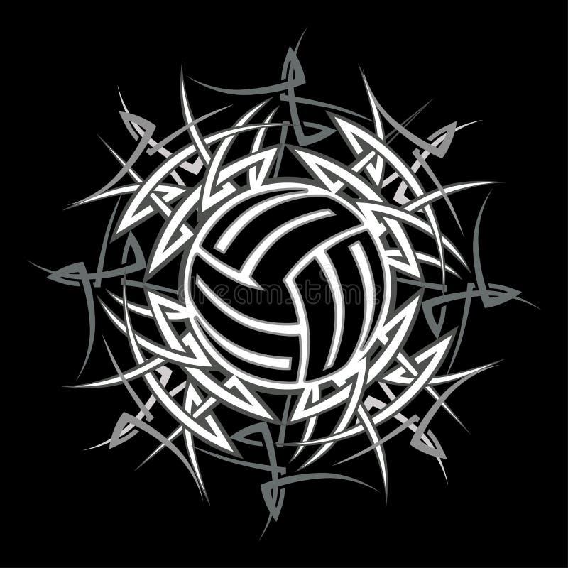 Marchio tribale di pallavolo illustrazione vettoriale