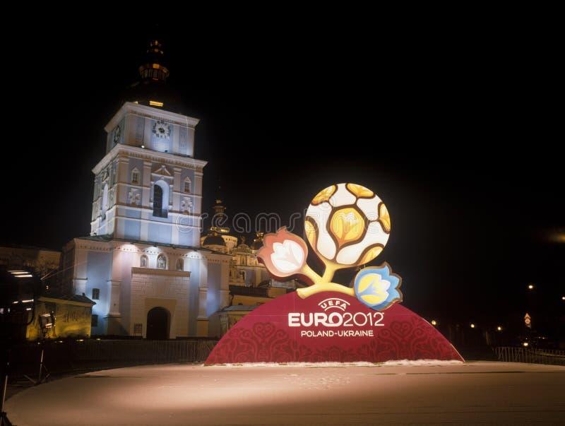 Marchio ufficiale per l'EURO 2012 dell'UEFA. immagini stock