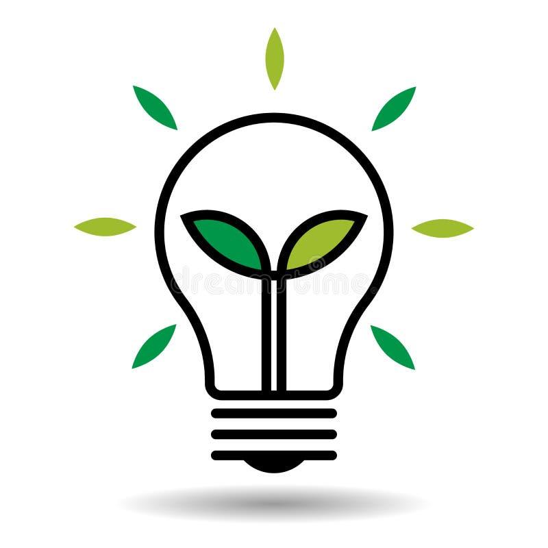 Marchio verde di energia illustrazione vettoriale