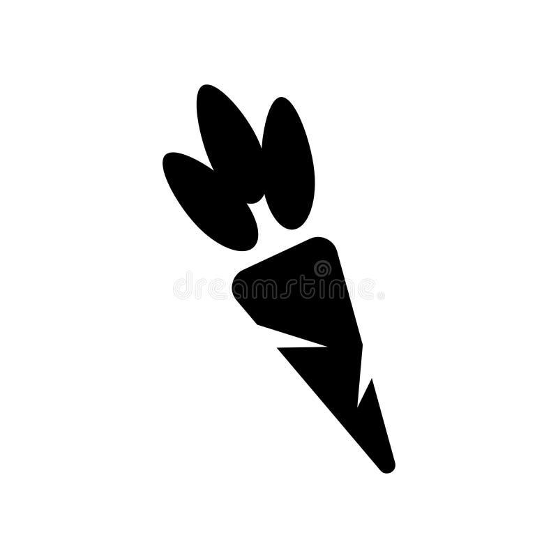 Marchwiana Jarzynowa ikona w modnym mieszkanie stylu odizolowywającym na białym tle symbol dla twój strona internetowa projekta l ilustracja wektor