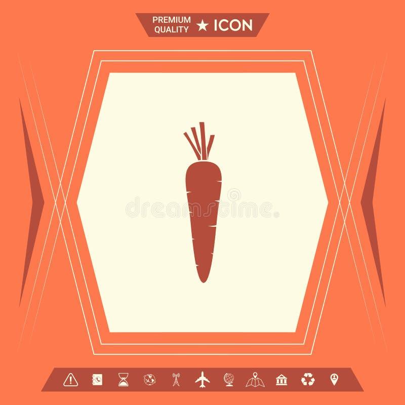 Marchwiana symbol ikona ilustracja wektor