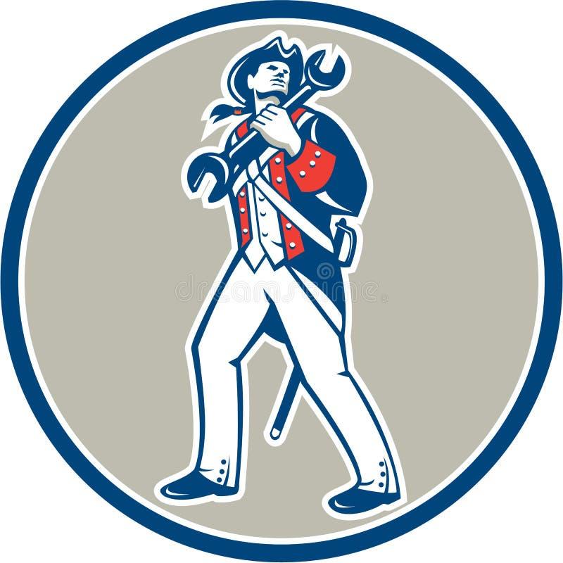 Marcia americana della chiave della tenuta del patriota retro royalty illustrazione gratis