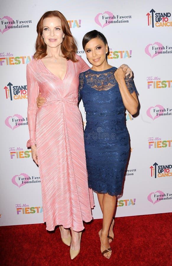 Marcia Cross and Eva Longoria royalty free stock photo