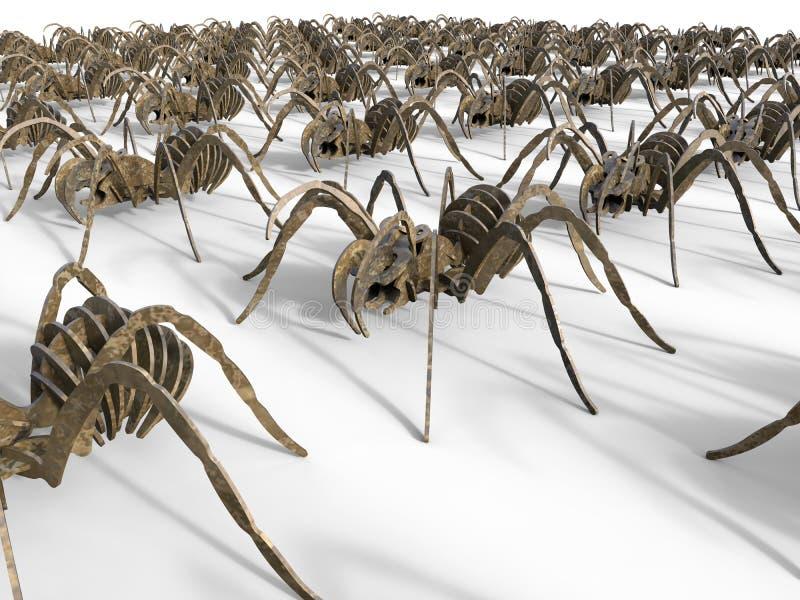 Marcia dei ragni royalty illustrazione gratis