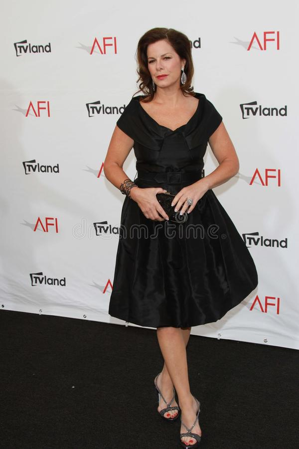 Marcia Gay Harden at the AFI Life Achievement Award Honoring Shirley MacLaine, Sony Pictures Studios, Culver City, CA 06-07-12 stock photos