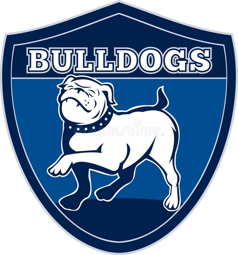 Marcia inglese fiera del bulldog royalty illustrazione gratis