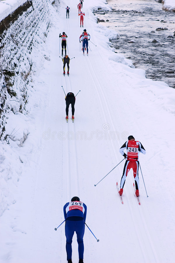 Marcialonga, group of skiers