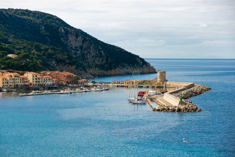Marciana Jachthafenhafen, Insel von Elba, stockfoto