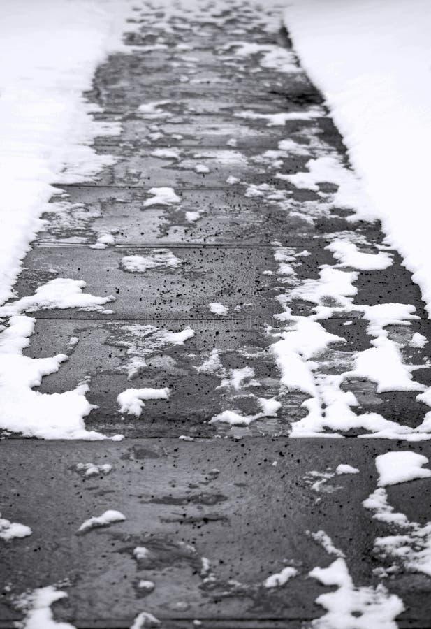 Marciapiede astratto di inverno immagine stock