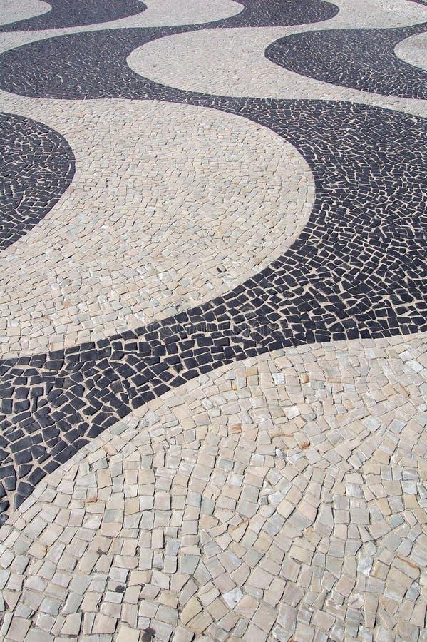 Marciapiede di Copacabana immagini stock libere da diritti