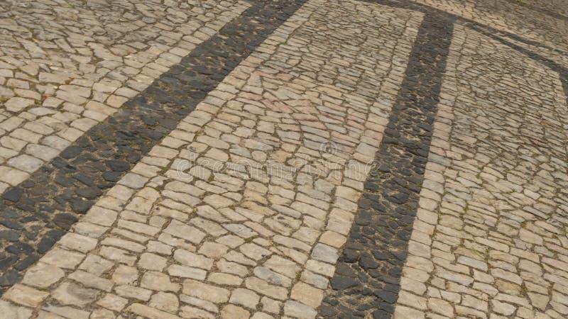 Marciapiede in un villaggio del Portogallo fotografia stock