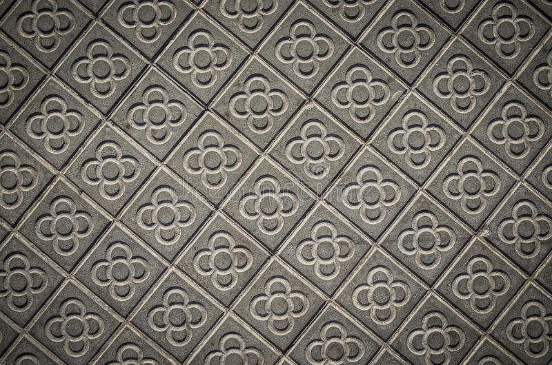Marciapiedi classici delle mattonelle della città di Barcellona immagini stock libere da diritti