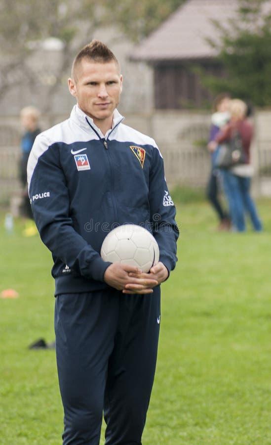 Marcin Robak fotbollsspelare av Pogon Szczecin Polen arkivbilder
