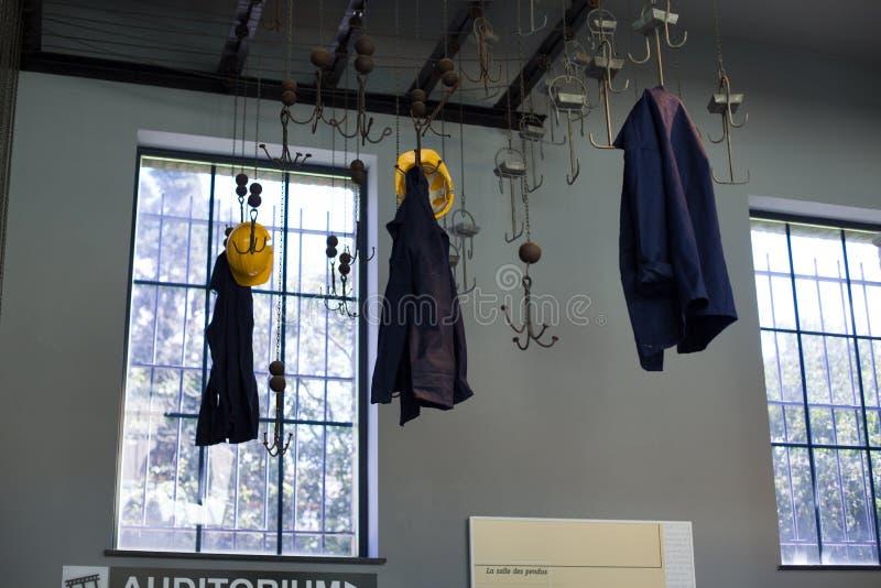 MARCINELLE - 2017年8月6日:Bois du Cazier采矿博物馆 库存图片
