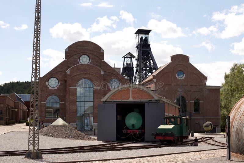 MARCINELLE - 6 AUGUSTUS, 2017: Bois du Cazier mijnbouwmuseum royalty-vrije stock afbeeldingen