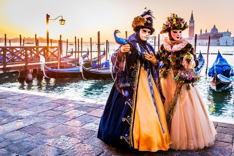 Венеция, Италия - масленица в аркаде Сан Marco стоковая фотография