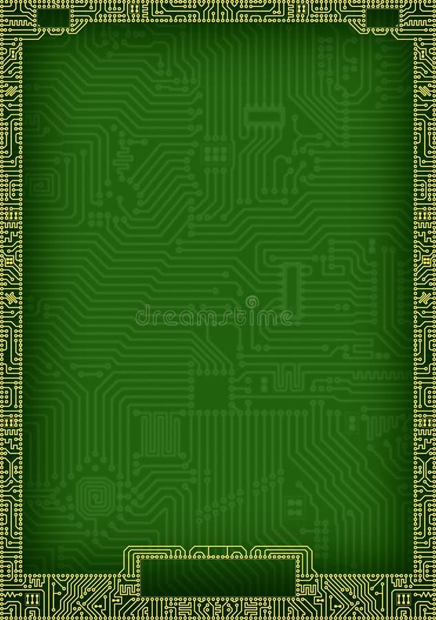 Marco abstracto de alta tecnología del espacio en blanco de la tarjeta de circuitos libre illustration