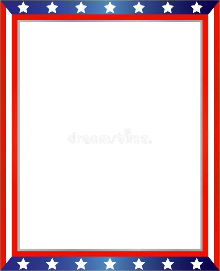 Marco abstracto de la bandera americana ilustración del vector