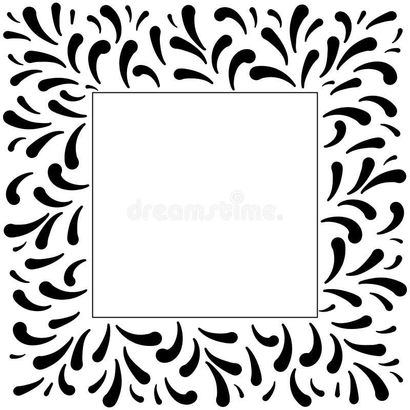 Marco abstracto de la tinta Marco de la foto de la plantilla del vector libre illustration
