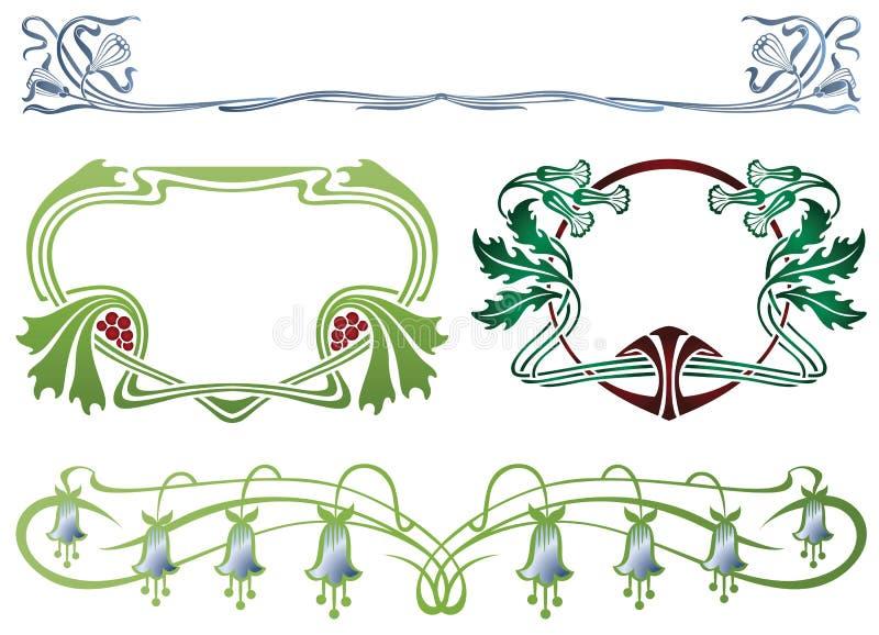 Marco abstracto de las plantas encuadernadas libre illustration