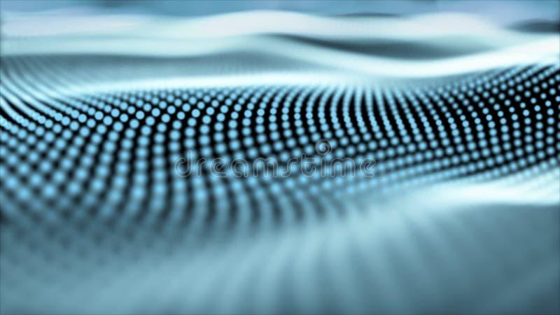 Marco abstracto del alambre de la red de la tecnología moderna de la transformación de Digitaces Fondo y concepto de la textura T stock de ilustración