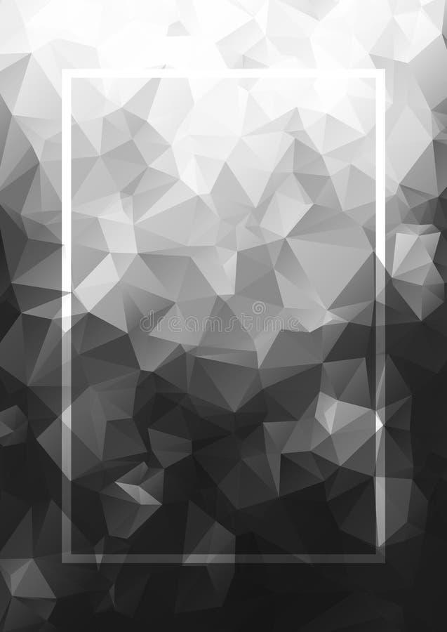 Marco abstracto del gris del fondo Modelo geométrico del vector stock de ilustración