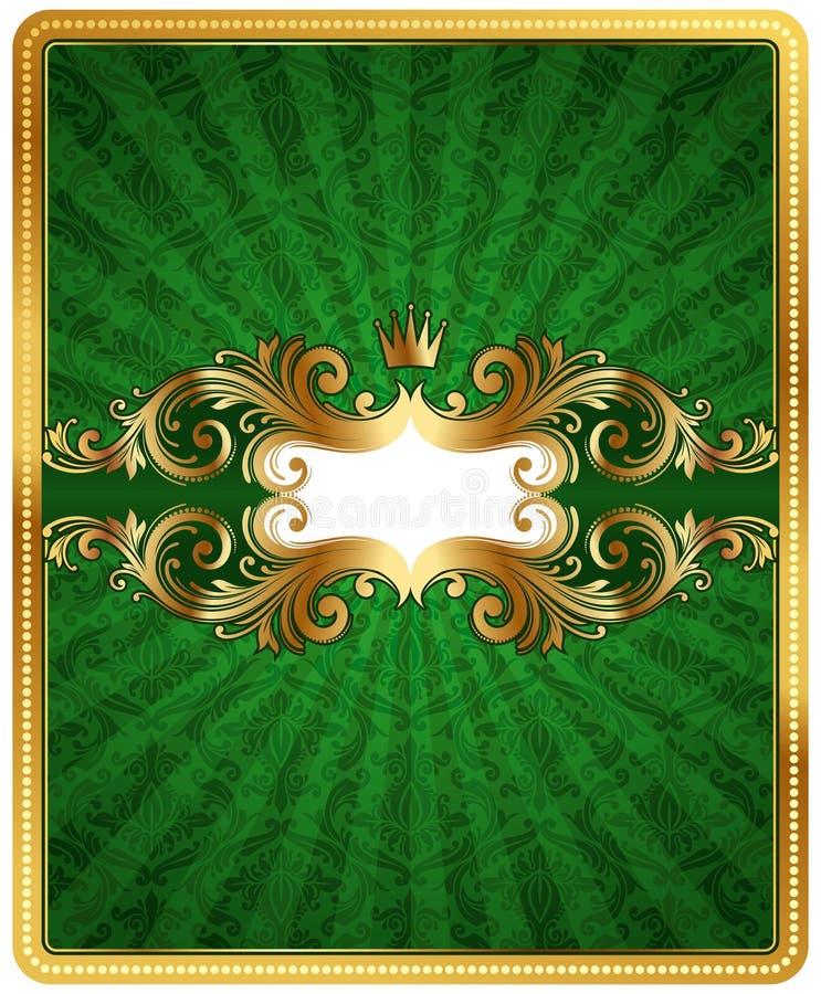 Marco adornado de oro ilustración del vector. Ilustración de ...