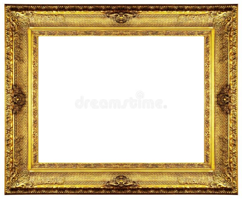 Marco adornado de oro foto de archivo. Imagen de tallado - 4774022