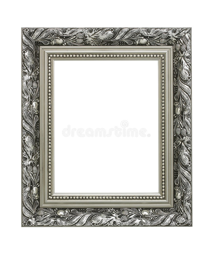 Marco adornado de plata fotos de archivo