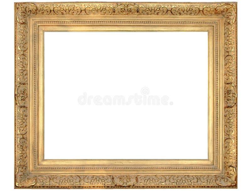 Marco adornado del oro imágenes de archivo libres de regalías