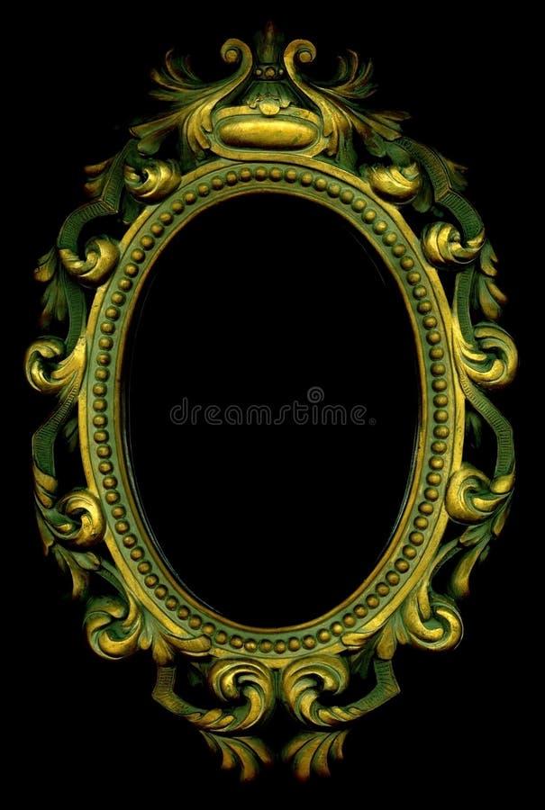 Marco adornado del oro imagen de archivo. Imagen de fondo - 8666917